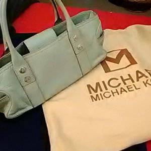 Michael for Michael Kors Baby Blue Leather Bag